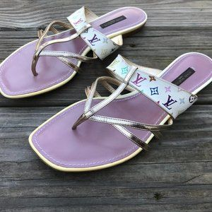 Louis Vuitton Women Sandal Shoes Flat Made in Ital